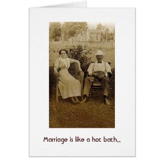 Casamento não tão quente cartao