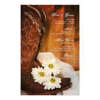Casamento ocidental do país das botas de vaqueiro papelaria