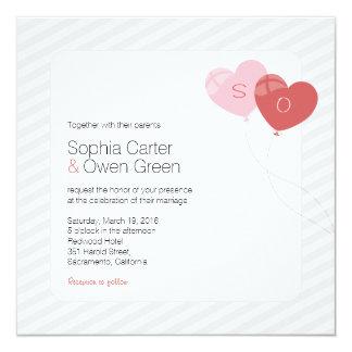 Casamento original dos desenhos animados criativos convite quadrado 13.35 x 13.35cm