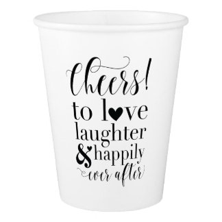 Casamento ou copo de papel do chá de panela