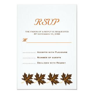 Casamento outono marrom RSVP das folhas de bordo Convite 8.89 X 12.7cm