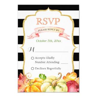 Casamento outono RSVP das folhas de bordo da Convite 8.89 X 12.7cm
