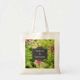 Casamento personalizado bonito da flor selvagem bolsa tote