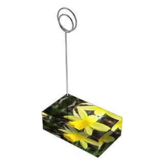 Casamento personalizado do foco Daffodil macio Suportes Para Cartoes De Mesa