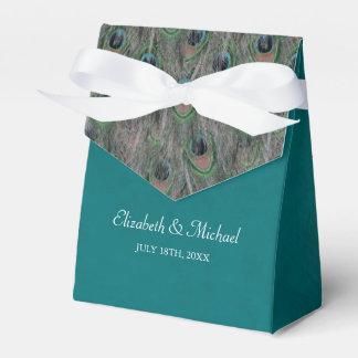 Casamento personalizado do pavão penas elegantes caixinha de lembrancinhas para festas
