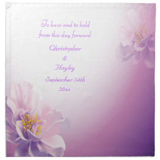 Casamento personalizado flores do vetor do Lilac Guardanapo Impresso