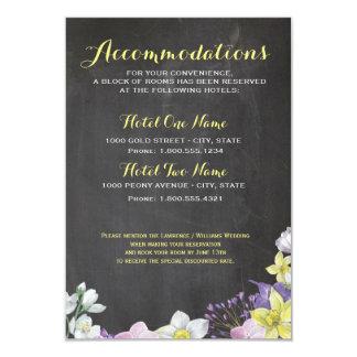Casamento pintado à mão do daffodil do narciso da convite 8.89 x 12.7cm