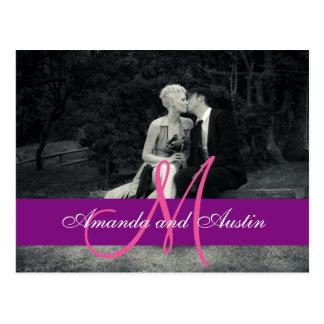 Casamento preto e branco da foto pura da elegância cartão postal
