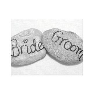 Casamento rocha sólida impressão em tela