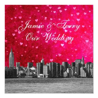 Casamento rosa vermelha quente gravado do coração