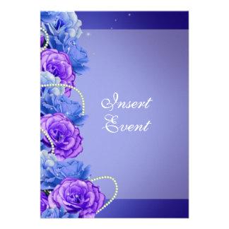 Casamento roxo azul do noivado do aniversário convites personalizados