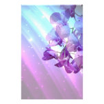 casamento roxo da orquídea do encanto elegante rom papel personalizados