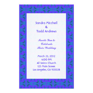 Casamento roxo de Tiki de turquesa Papelaria