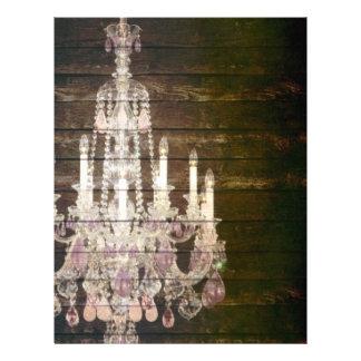 casamento roxo do candelabro do barnwood do vintag papel de carta