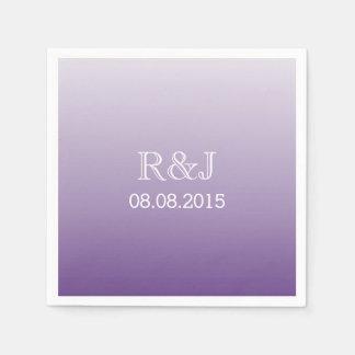 casamento roxo do ombre romântico moderno do lilac guardanapo de papel