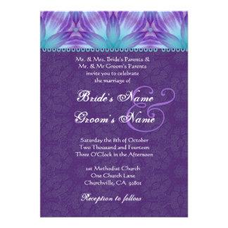 Casamento roxo do roxo azul e real do Aqua Convite