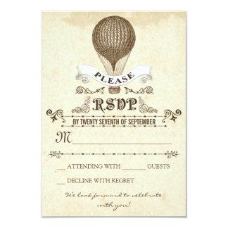 Casamento RSVP com o balão de ar quente romântico Convite 8.89 X 12.7cm