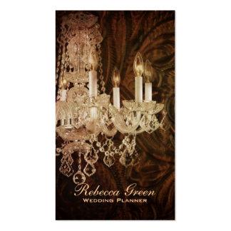 casamento rústico do candelabro do país ocidental cartão de visita
