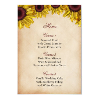Casamento rústico do girassol convite 12.7 x 17.78cm