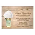 Casamento rústico do Hydrangea do frasco de pedrei Convite Personalizados