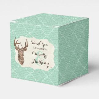 Casamento rústico do país dos Antlers elegantes Caixinhas De Lembrancinhas Para Casamentos