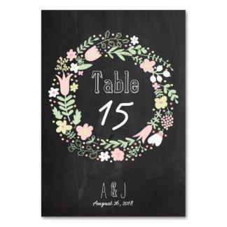 Casamento rústico do quadro da grinalda da flor de cartão