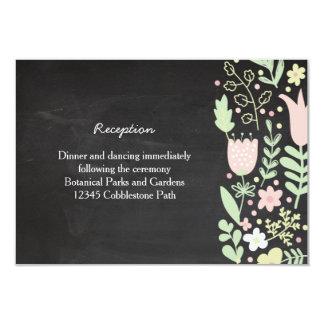 Casamento rústico do quadro da grinalda da flor de convite 8.89 x 12.7cm