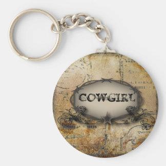 casamento rústico do vaqueiro do país ocidental do chaveiro