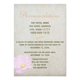 Casamento simples do papel do vintage do cartão convite 11.30 x 15.87cm