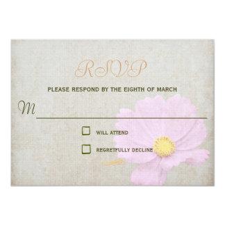 Casamento simples do papel do vintage do cartão da convite 11.30 x 15.87cm