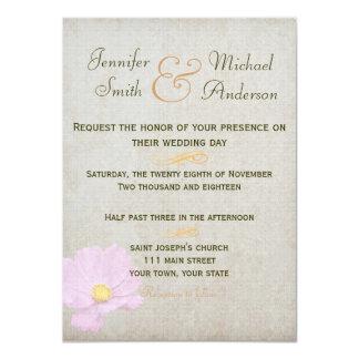 Casamento simples do papel do vintage do convite