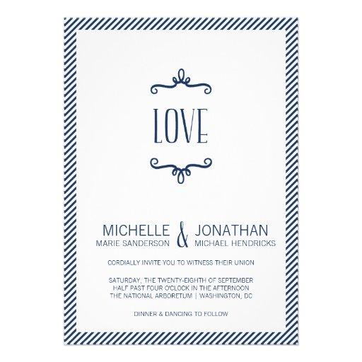 Casamento simples lunático convites