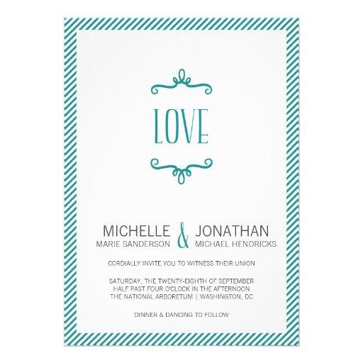 Casamento simples lunático convite personalizado