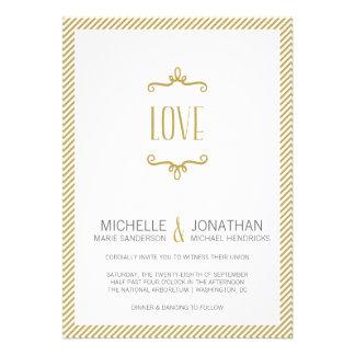 Casamento simples lunático convites personalizado