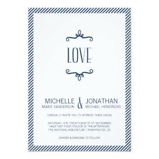 Casamento simples lunático convite 12.7 x 17.78cm