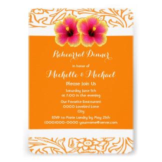 Casamento tropical brilhante do hibiscus convite personalizados