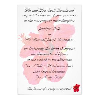 Casamento tropical do hibiscus convites personalizados