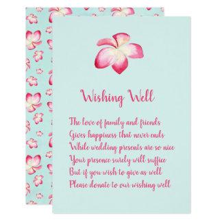 Casamento tropical do Plumeria que deseja cartões