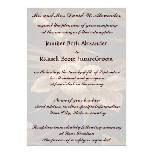 Casamento tropical do vintage convites