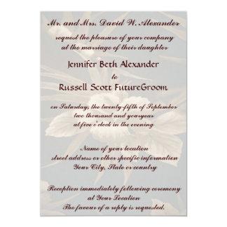 Casamento tropical do vintage convite 12.7 x 17.78cm
