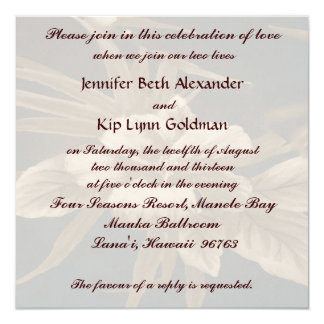 Casamento tropical do vintage convites personalizados