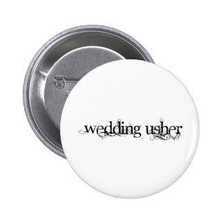 Casamento Usher Bóton Redondo 5.08cm