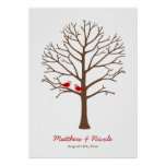 Casamento vermelho marrom da árvore da impressão d
