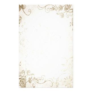 Casamento vintage antigo elegante do ouro papel personalizados