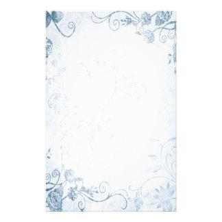 Casamento vintage azul elegante papeis personalizados