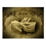 Casamento vintage… Com este anel mim thee quarta-f Cartao Postal
