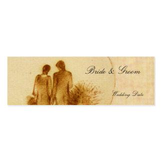 Casamento vintage FavorTag Cartão De Visita Skinny
