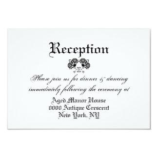 Casamento vintage formal branco preto 02 convite