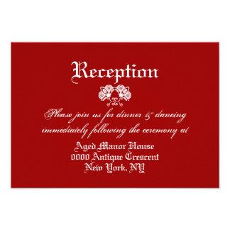 Casamento vintage formal branco vermelho convite personalizado