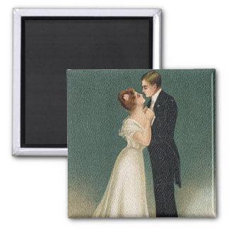 Casamento vintage ímã quadrado